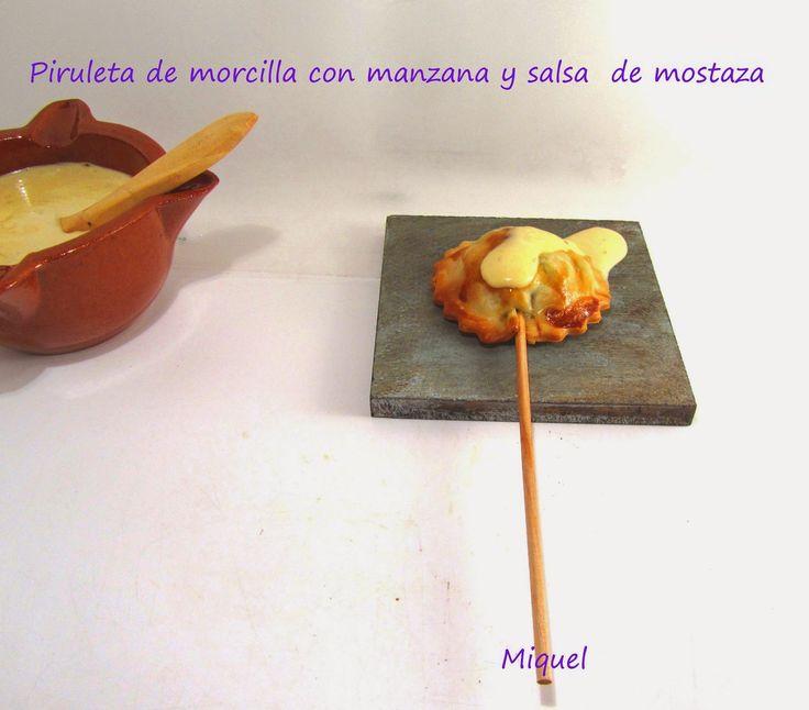 Les receptes del Miquel: Piruletas de morcilla con manzana y salsa de mostaza