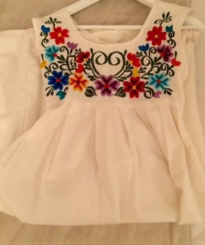 Vestido Bordado Mexicano Nena - $ 450,00 en MercadoLibre