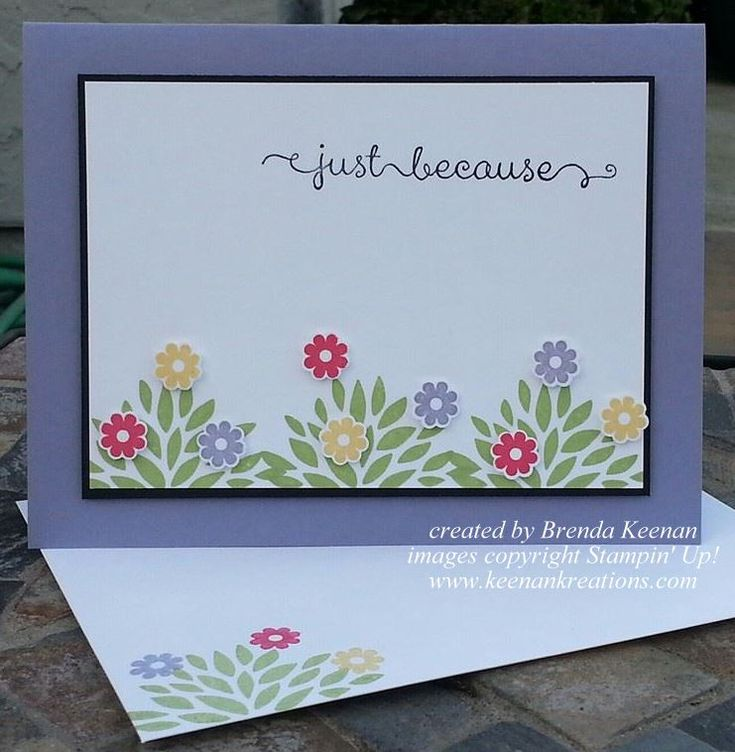 stampin up petal parade card ideas   ... using the Petal Parade and Banner Blast stamp sets from Stampin' Up