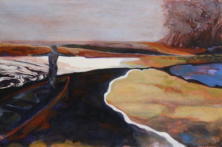 Jiří Hauschka: Mercy Boat, 2015, acrylic on canvas, 100 x 150 cm