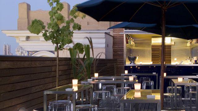 A terrace view of Hotel de las Letras in Madrid