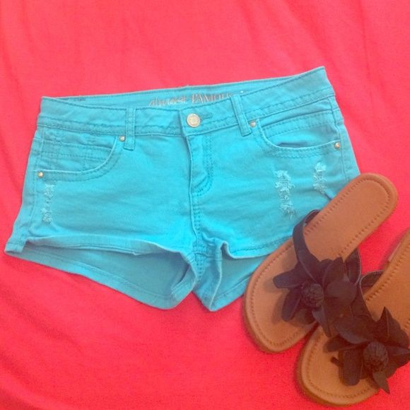Super cute light blue shorts Blue shorts perfect for summer! ☀️☀️ Almost Famous Shorts Jean Shorts