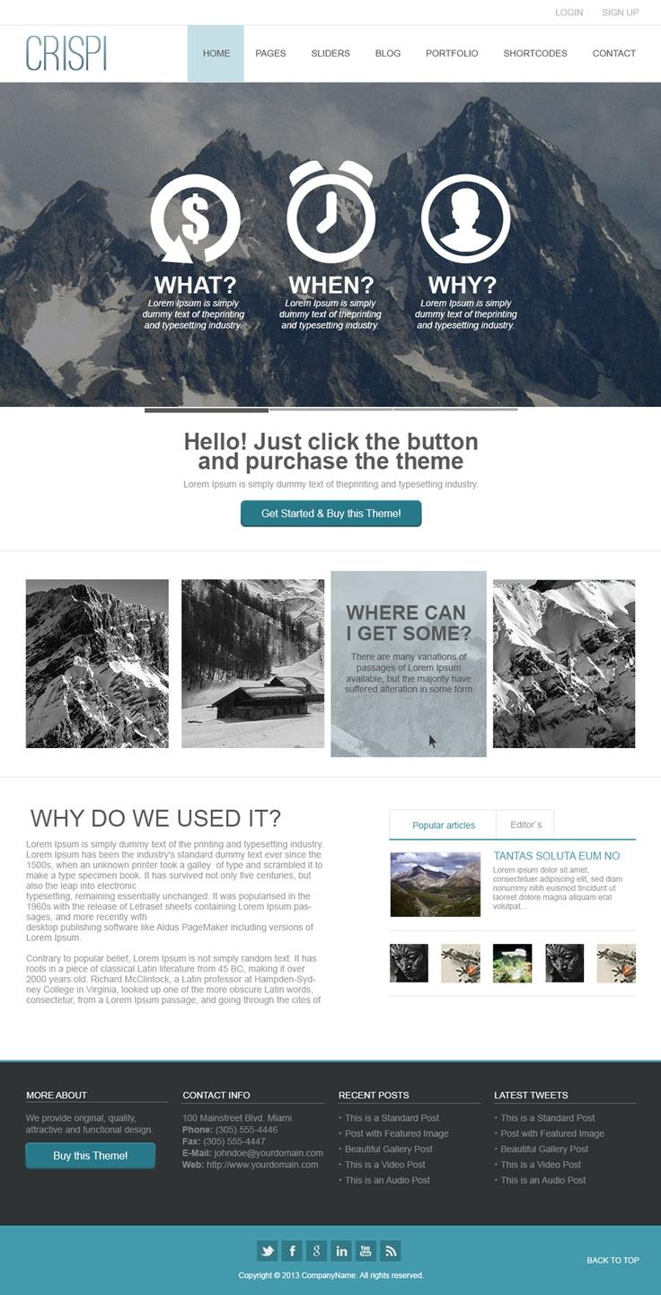 230 best psd website templates images on pinterest psd templates design web and site design for Pinterest template psd