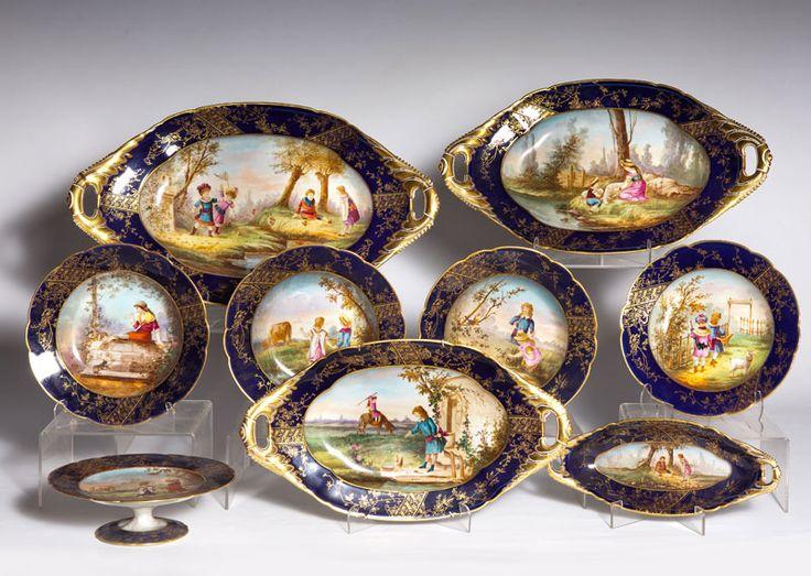 Lote 359 vajilla de porcelana francesa de limoges for Vajilla porcelana