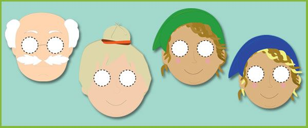 The Elves and the Shoemaker Masks for Role-Play | Free EYFS / KS1 Resources for Teachers