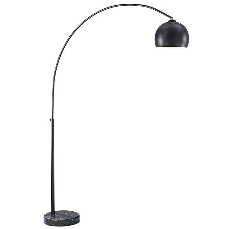 Georges reading room arc floor lamp is available in a chrome finish with a