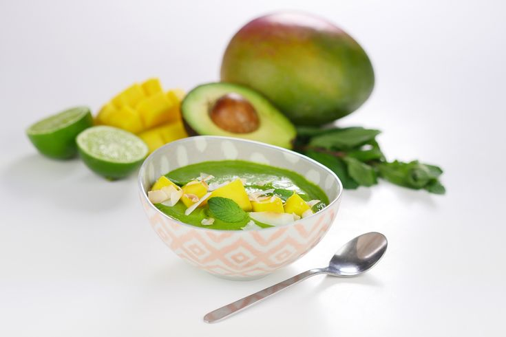 Lunch of ontbijt recept: Groene smoothie bowl