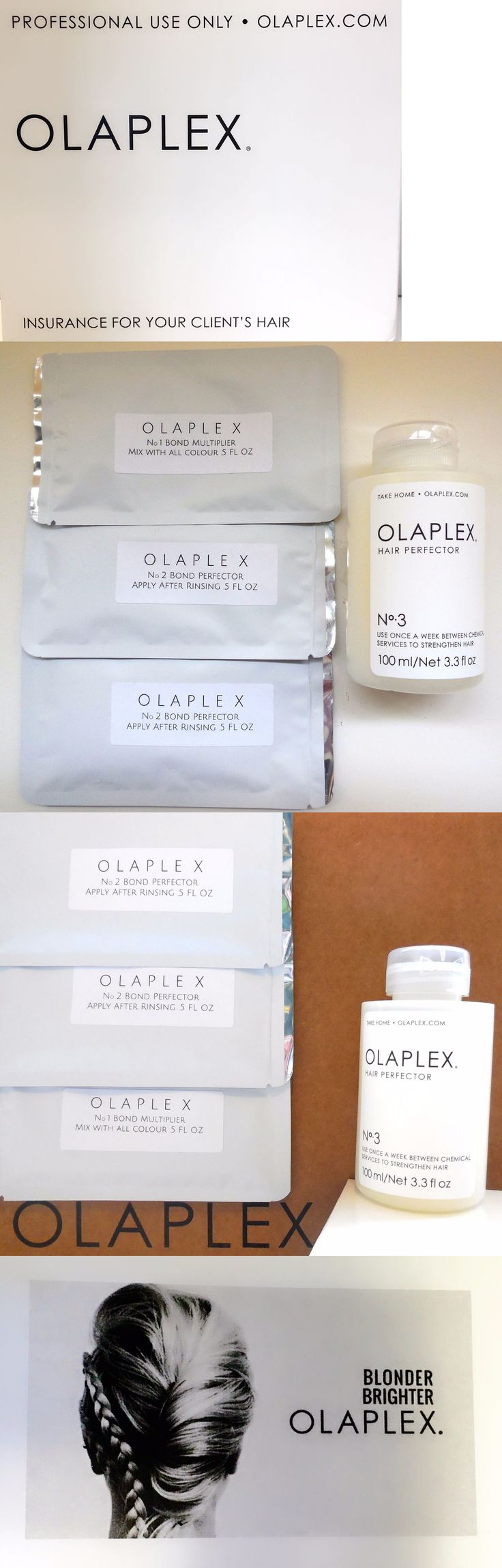 Hair Beauty: Olaplex Kit 1 And No. 2 And Full Sized No.3 BUY IT NOW ONLY: $42.99
