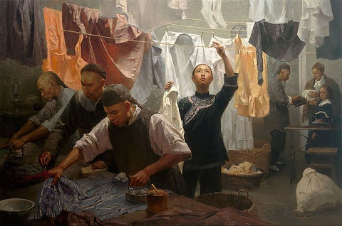 Chinese Family Laundry, 1880