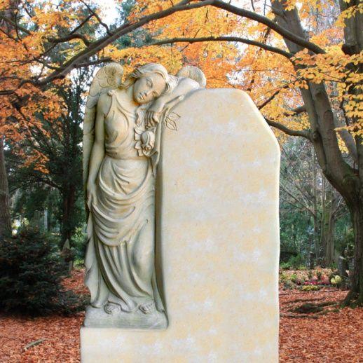 Einzigartiges Grabmal mit trauerndem Engel »Clarissa« • Qualität & Service direkt vom Bildhauer • Jetzt Grabstein online kaufen bei ▷ Serafinum.de