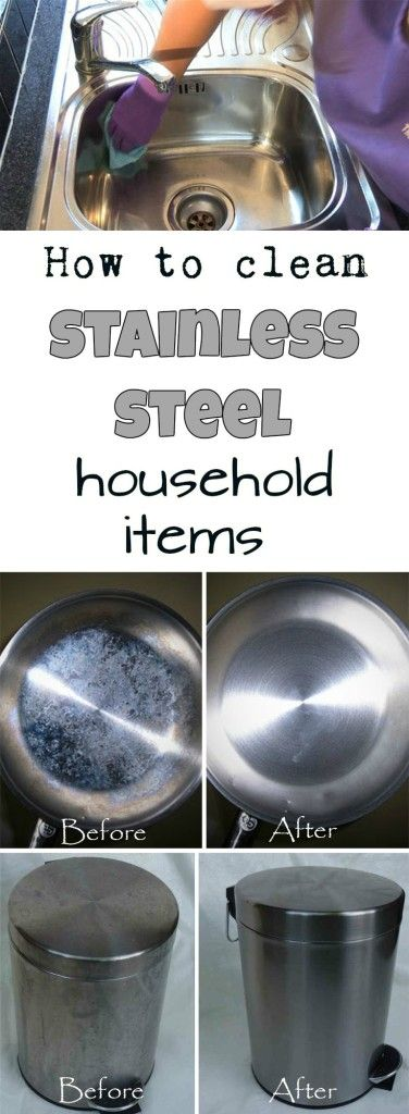 Learn how to clean stainless steel household items.