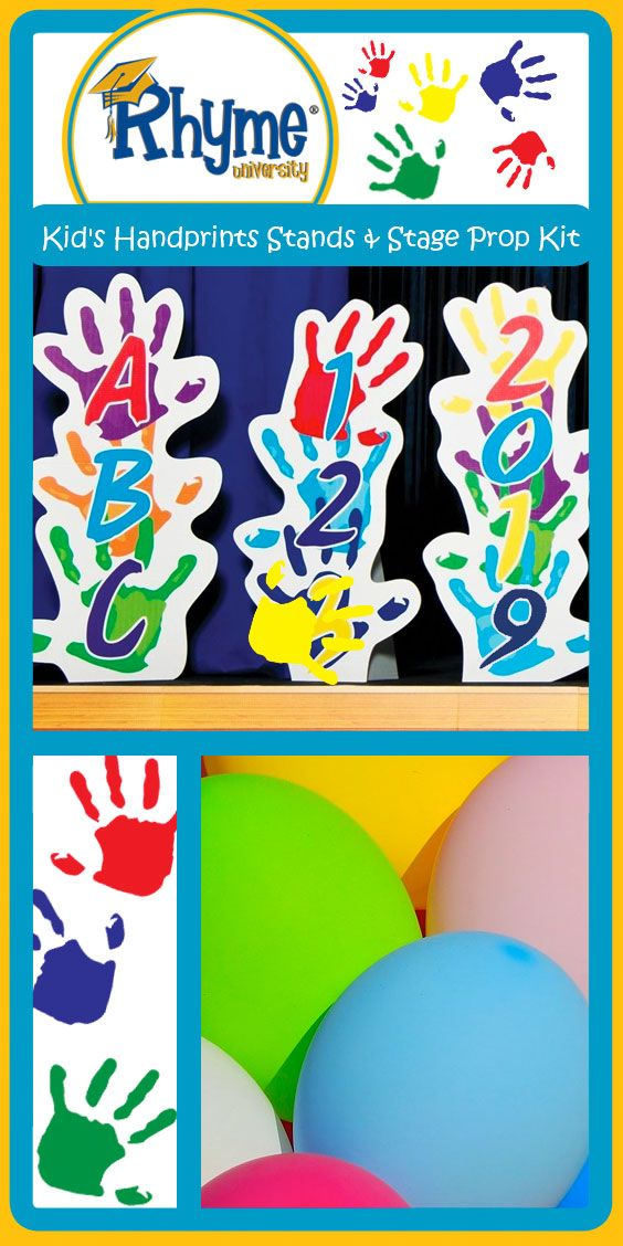 Handprints Stage Prop Set - Kindergarten Graduation