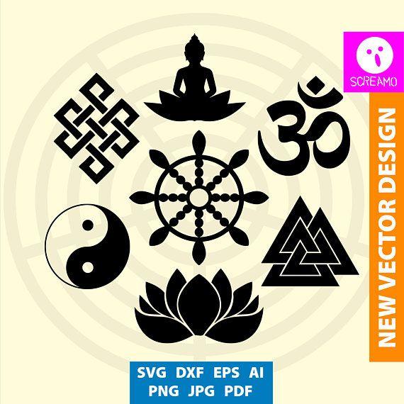 ORIENTAL SYMBOLS cliparts SVG cut files vector print