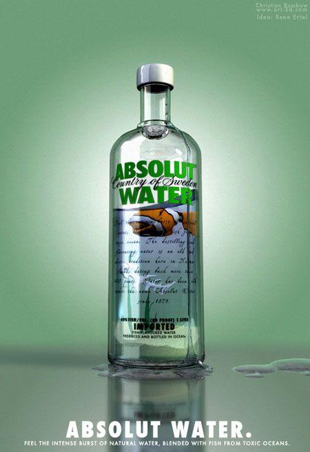 ABSOLUT WATER. Absolut Vodka