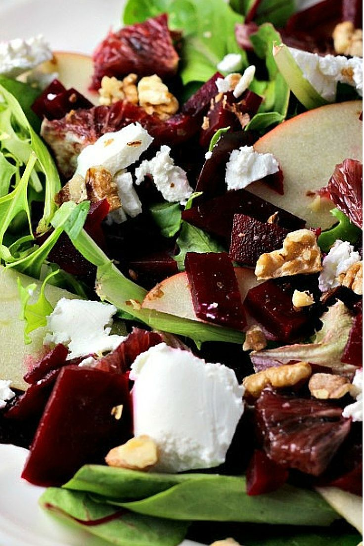 Blood Orange, Beet, and Apple Salad with Goat Cheese and Citrus Honey ...