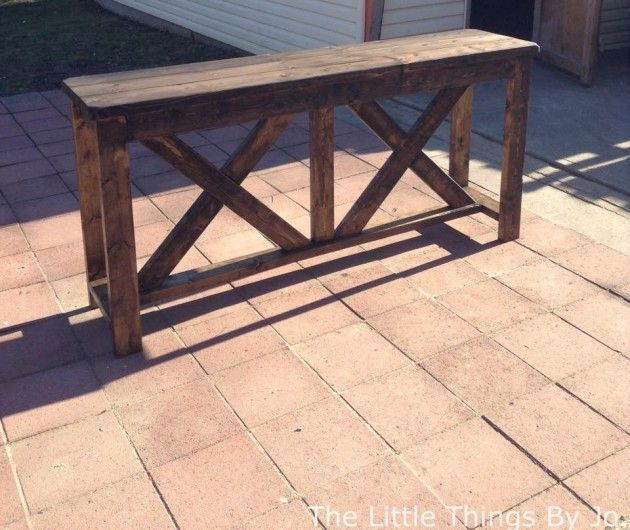 Rollins Console Table: DIY Rustic Console Table