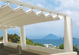Pergole pavilion FLY terase pe litoral