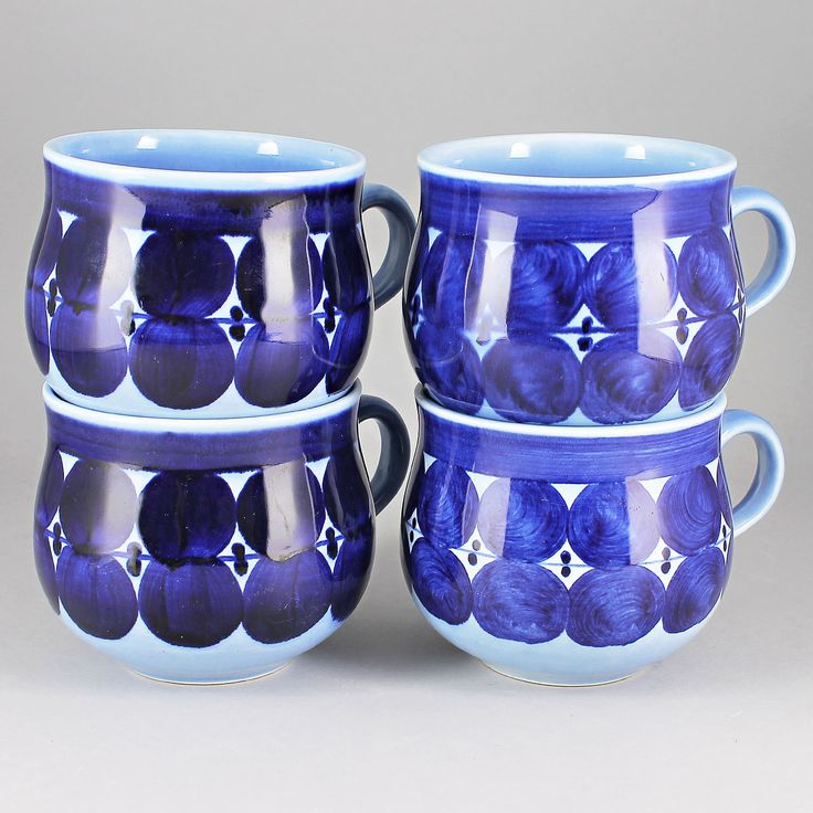 Lisa Larson (Matilda 1962) Four Charming Cups