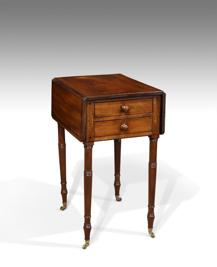 Mahogany Work Table Antique Sewing Table Regency Work Table