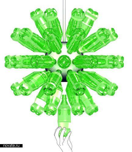 Люстра из бутылок «ReGlow»