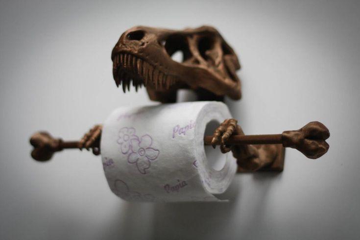 TRex Toilet Paper Holder 3D Printed Bathroom