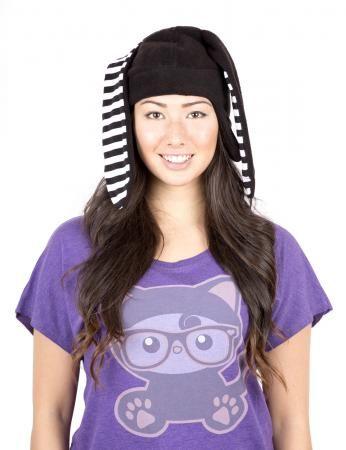 crazyheads Fleece Black Bunny Aviator Hat-SALE $19.99