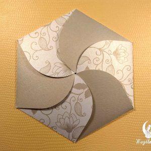 Hexagon formavágott esküvői meghívó #formavágott #esküvői #meghívó #esküvőimeghívó #cutting #wedding #weddinginvitations #gold #hexagon #unique