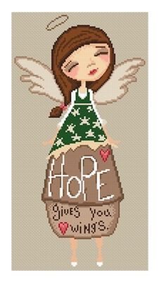 Hope Gives Wings  Artwork by Diane Duda Lena Lawson Needle Arts