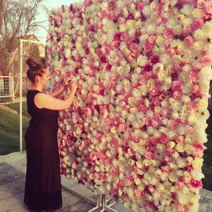 #virágfal #alexandraeskuvo #háttèr #dekoráció #virág #rózsaszín #fehèr