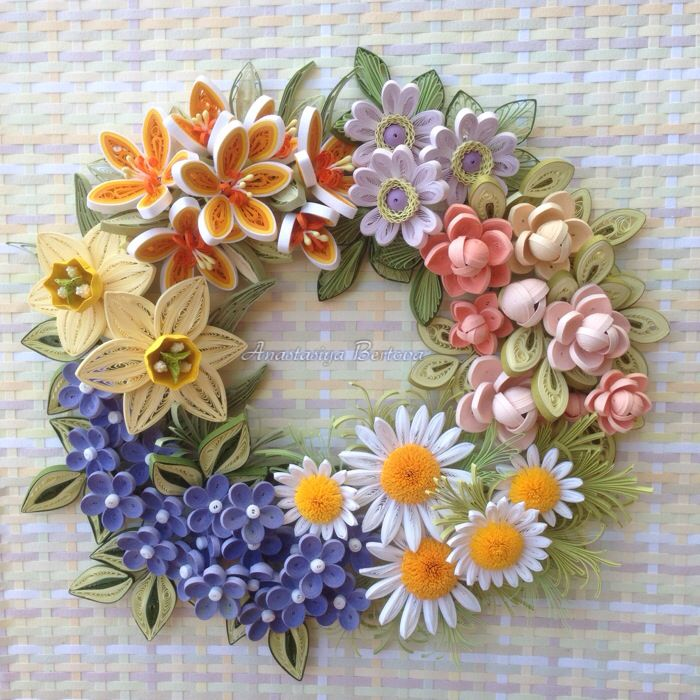 The first time I try making a floral wreath....