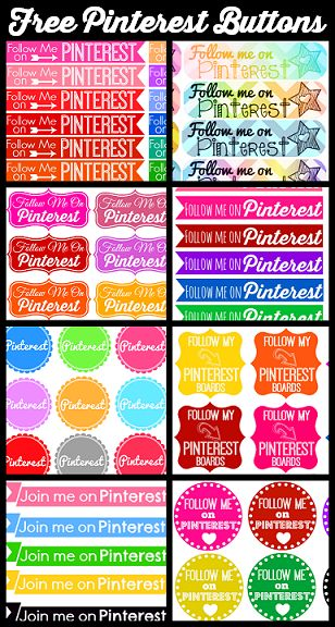 Lovely!!!!!! Free Pinterest Button and Icon Sets to Download