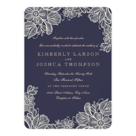 Vintage Lace Wedding Card - tap to personalize and get yours