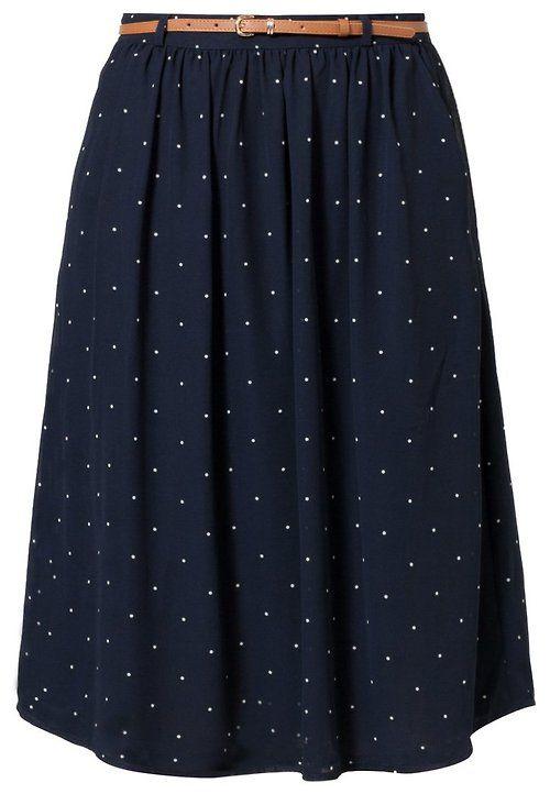 A-line polka dot skirt.
