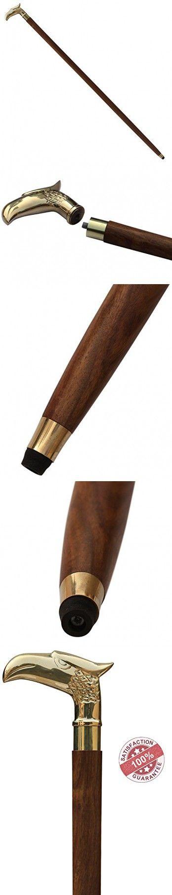 **Items on Sale** - Eagle Walking Stick - SouvNear Rare Eagle Head Wooden Cane Walking Stick for Men and Women - Canes and Walking Sticks with Metal Brass Handle                                                                                                                                                                                 More