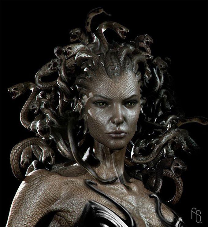 medusa when she was beautiful | Ancient Greek: Μέδυσα