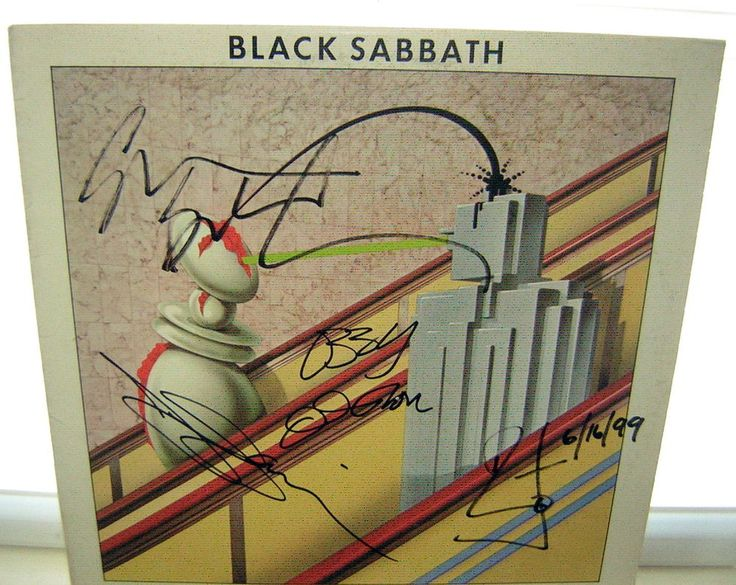 BLACK SABBATH SIGNED LP TECHNICAL ECSTASY 1ST PRESSING 1976 OZZY