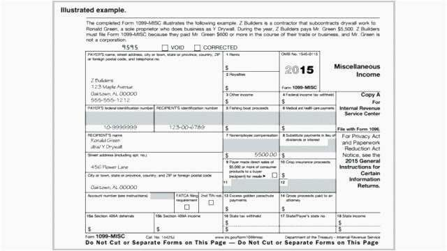 Best 24 Free 1099s Form Examples 1099 Form Template 2016 Regarding