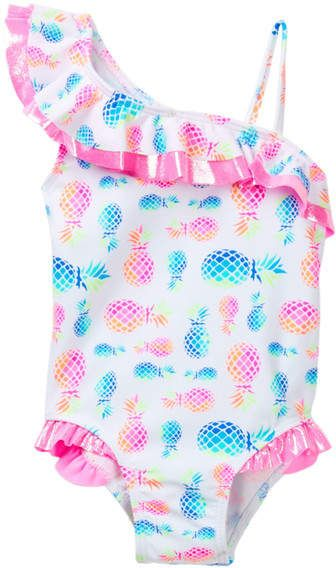 Flapdoodles Pineapple Print One Piece Toddler Girls Toddler