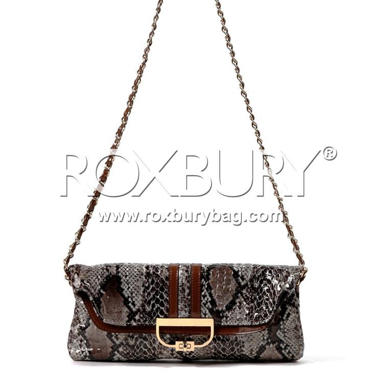 Batya Python Clutch Roxbury Nicolelee Handbags