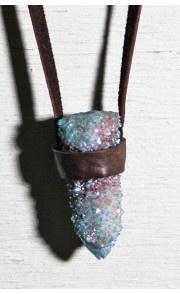torchlight aqua aura cactus necklace $145.00