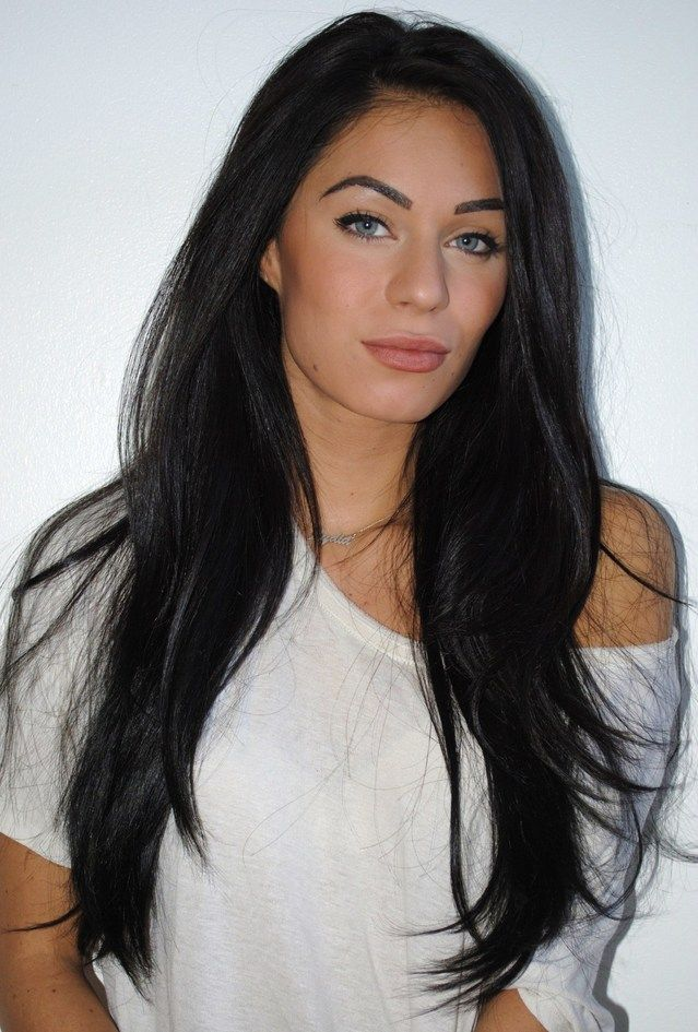Long black styled #hair #LongHairDontCare  Layers blend your extensions perfectly. Remy Clips hair extensions.