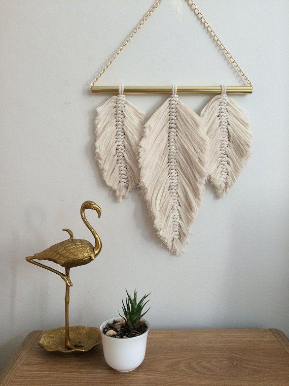 Macrame Feather Feather Macrame Wall Hanging Macrame