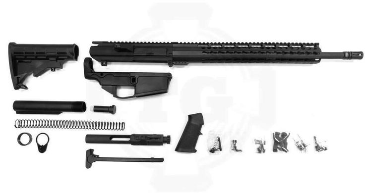 """.308 Complete Rifle Kit With 80% Lower Receiver and 18"""" Barrel / Assembled"""