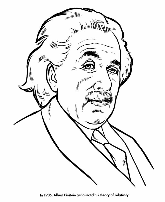 Albert Einstein Coloring Page And Many Others Kid Albert Coloring Pages