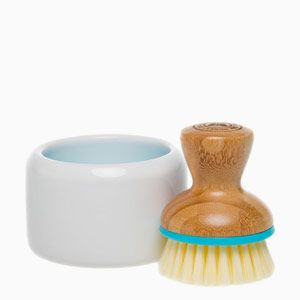 Suds Up | Bamboo Scrub Brush and Bowl | The Honest Company