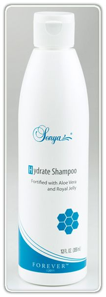 Sonya Hydrate Shampoo. This moisture-enriched shampoo has a unique, ultra-hydrating formulation that leaves hair more resilient and energised, with increased body and shine