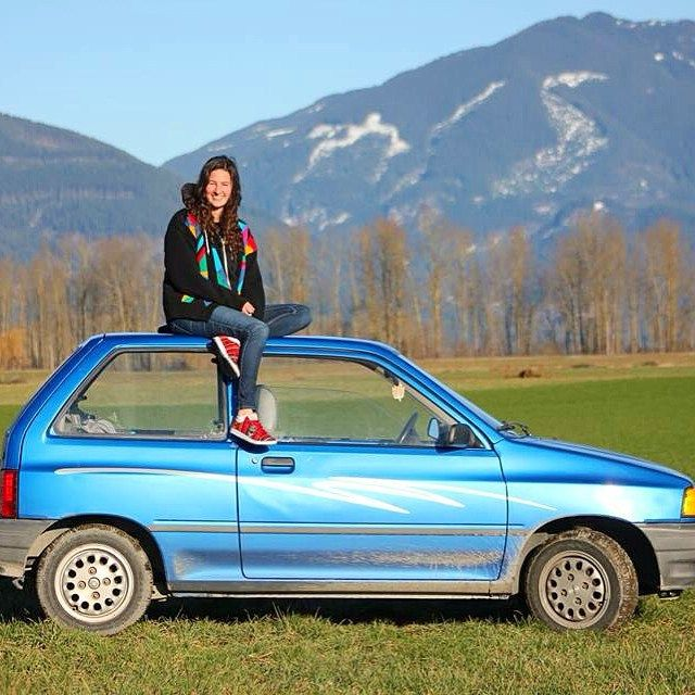 This car is always a party. Ford Festiva