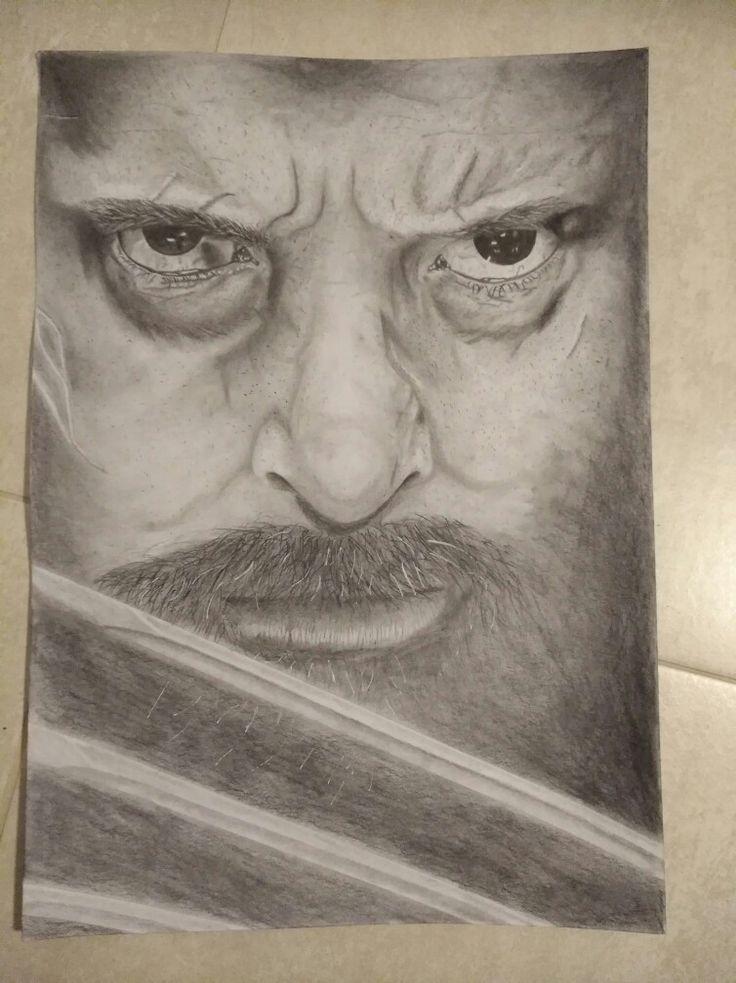 Hugh Jackman as Logan (Wolverine) pencil drawing