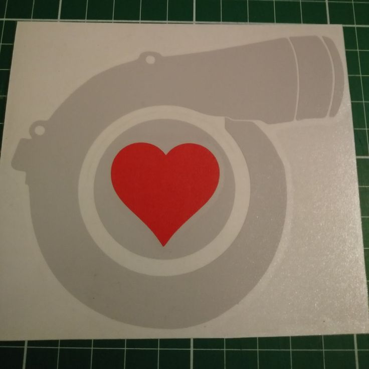 Turbo Love Sticker Vinyl Decal - Show off your love of BOOST! by StickerBot on Etsy