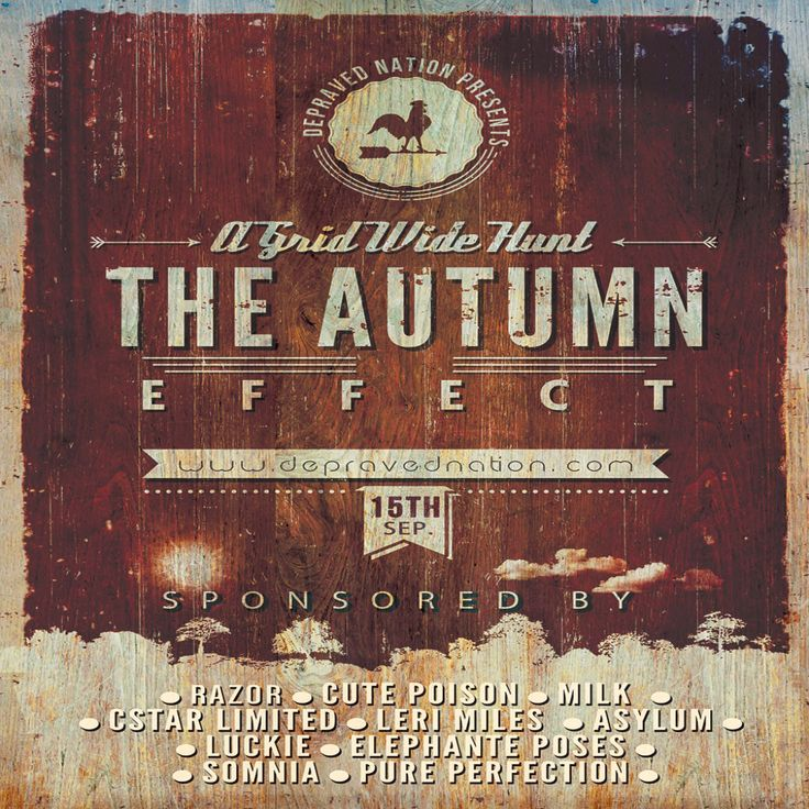 Seconlife Hunts - Autumn Effect Poster 2013 Final